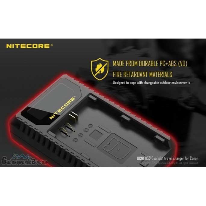 Nitecore UCN1 Dual Slot USB Digital Charger for Canon EOS Batteries