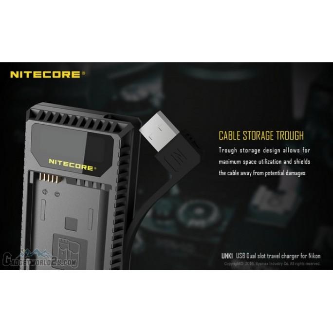 Nitecore UNK1 Dual Slot USB Digital Charger for Nikon Batteries