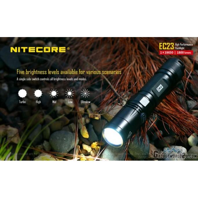 Nitecore EC23 CREE XHP35 LED 1800 Lumens Flashlight