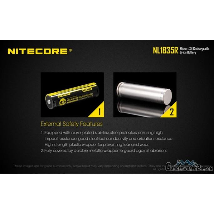 Nitecore 18650 3500mAh USB Rechargeable Li-ion Battery NL1835R