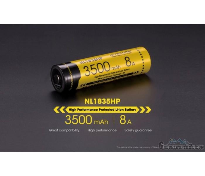Nitecore 18650 3500mah Li Ion Rechargeable Battery Nl1835hp