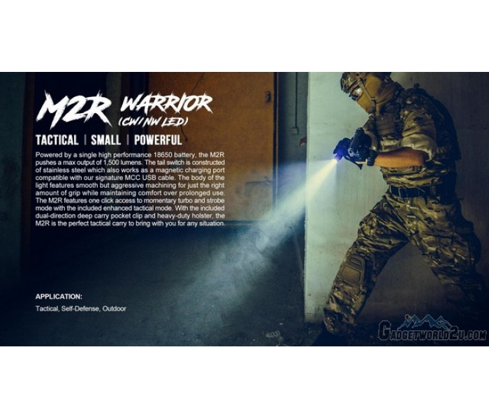 Olight M2R Warrior Rechargeable CREE XHP35 CW 1500 Lumens ...