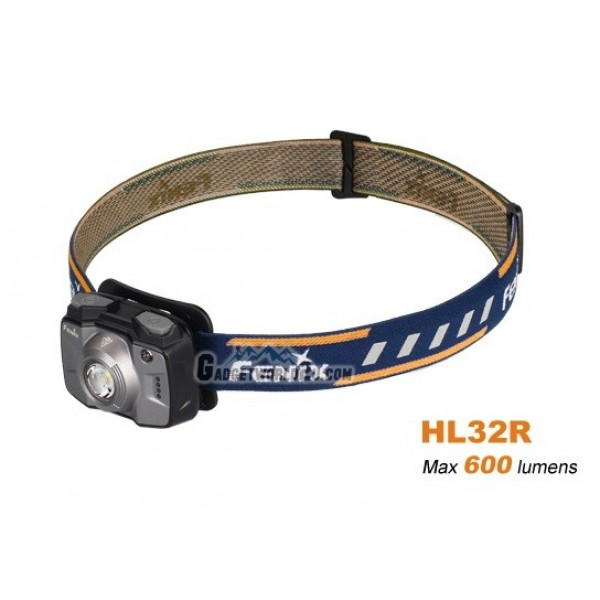 Fenix HL32R Rechargeable 600L Headlamp - Grey