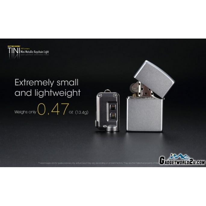 Nitecore TINI 380L Keychain Recharge Flashlight - Blue