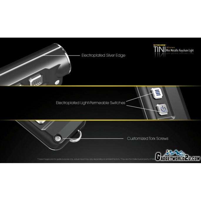 Nitecore TINI 380L Keychain Recharge Flashlight - Green
