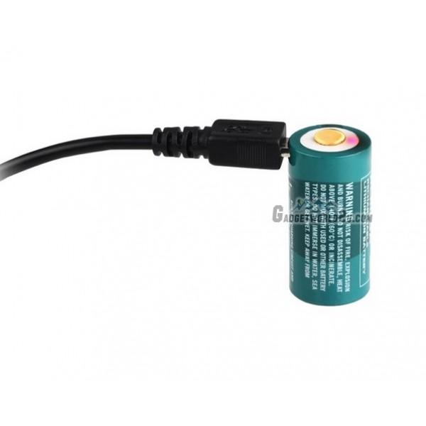 Olight RCR123 16340 USB 3.7V 650mAh Rechargeable Li-ion Battery
