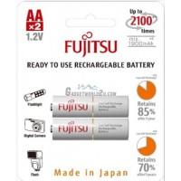 Fujitsu AA x2 2000mAh NiMH 2100 Cycle Rechargeable Battery Japan