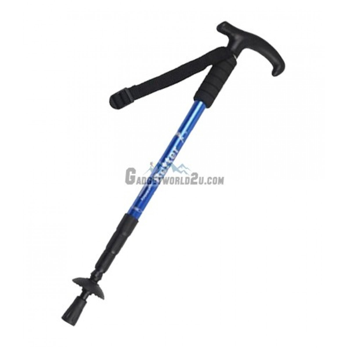 Hiking Stick Retractable with Anti Shock - Blue