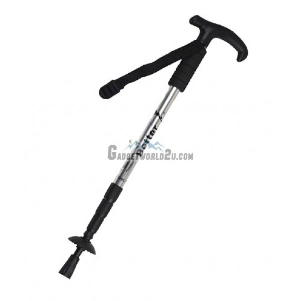 Hiking Stick Retractable with Anti Shock - Silver