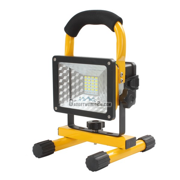 24 LEDs 30W 2400 Lumens Rechargeable LED Flood Light Square (W804)