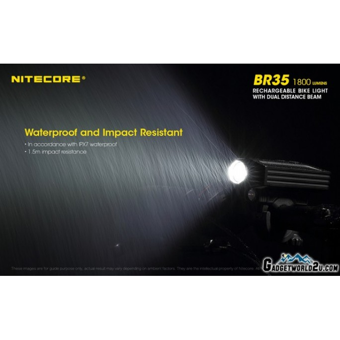 Nitecore BR35 1800L Dual Beam Rechargeable Bicycle Light