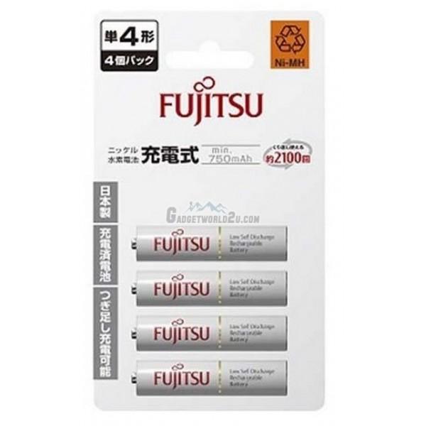 Fujitsu AAA x4 800mAh NiMH 2100 Cycle Rechargeable Battery Japan