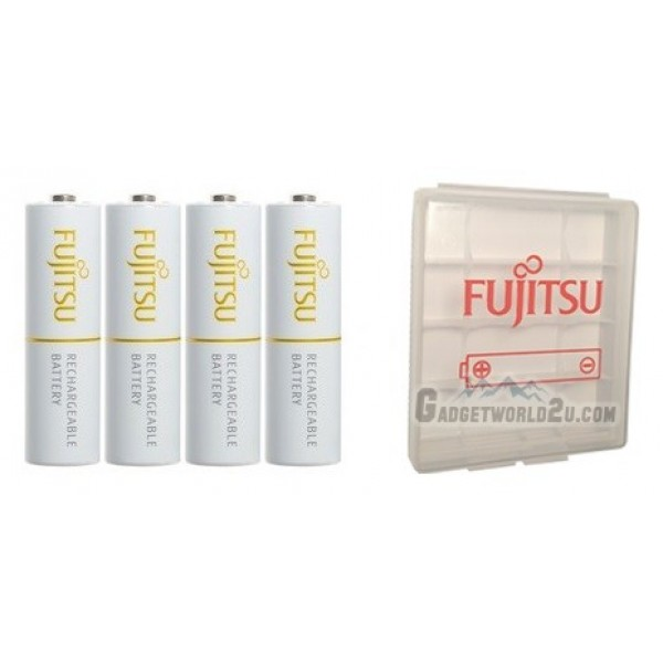 Fujitsu AA x4 2000mAh NiMH 1800 Cycle Rechargeable Battery Blister Pack