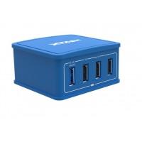 Xtar 4U 27W 4 Port USB Hub Charger Blue