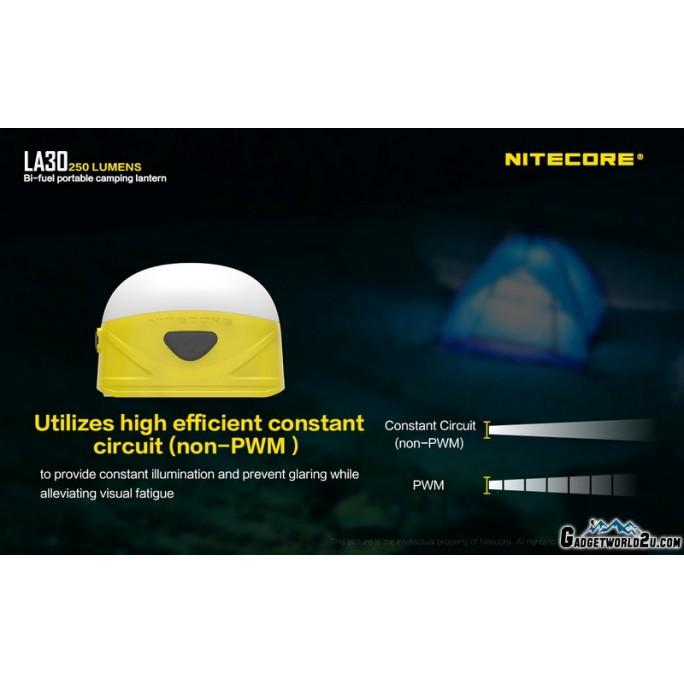 Nitecore LA30 White & Red Bi-Fuel Rechargeable 250L Lantern Blue