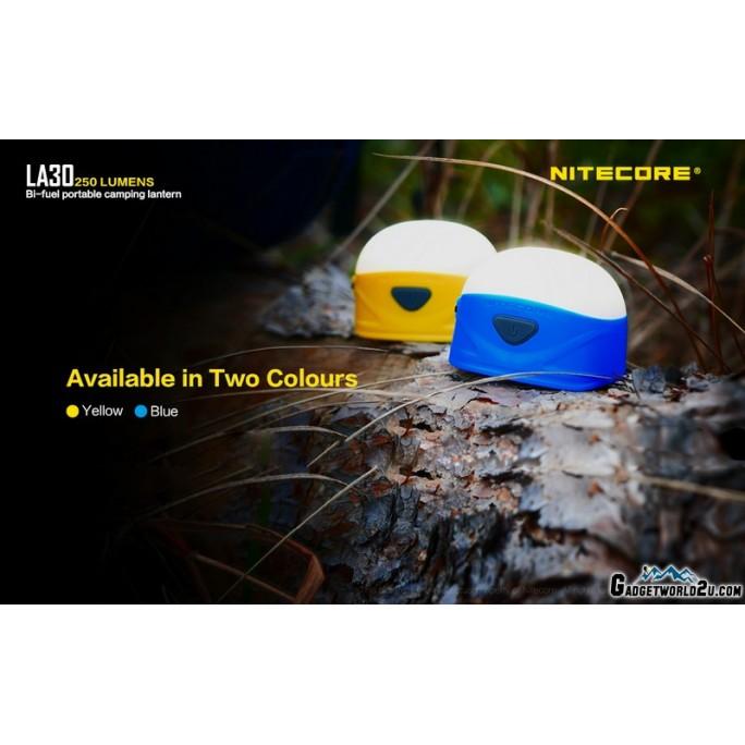 Nitecore LA30 White & Red Bi-Fuel Rechargeable 250L Lantern Yellow