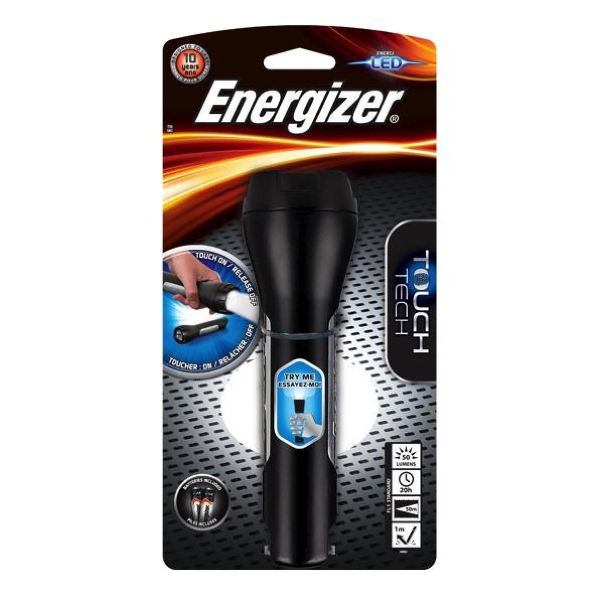 Energizer 2AA LED Touch 50L Light Flashlight THH21