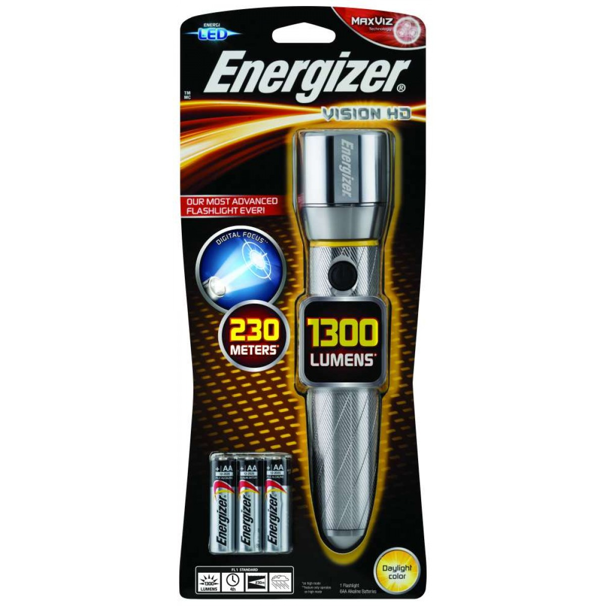 Energizer Vision HD 6AA 1300L LED Flashlight PMHH61