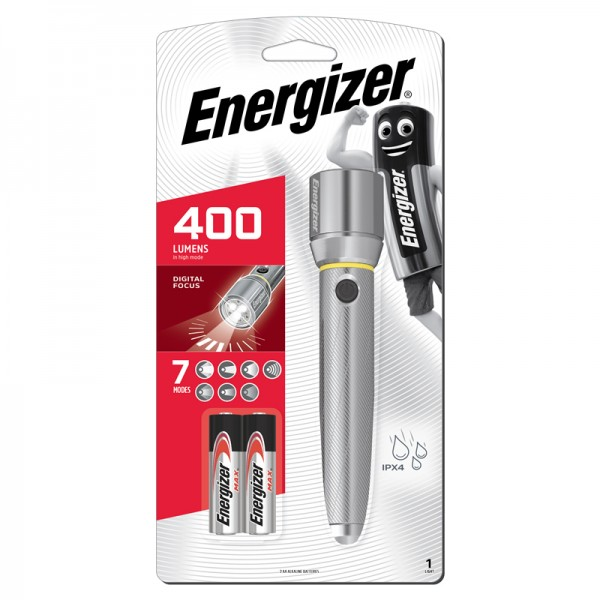 Energizer Vision HD Metal 2AA 400L LED Flashlight PMZH21