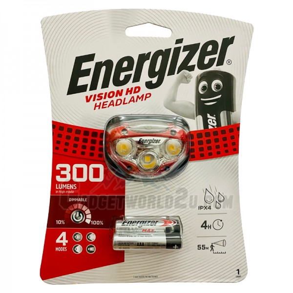Energizer Vision Headlight 300L LED Headlamp HDB32