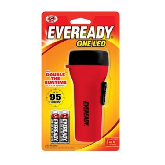 Eveready One LED 2or4AA 30L Flashlight GPCH41
