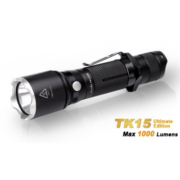 Fenix TK15UE CREE XP-L HI V3 LED 1000 Lumens Flashlight - Black