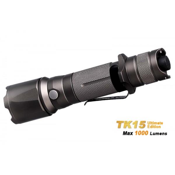 Fenix TK15UE CREE XP-L HI V3 LED 1000 Lumens Flashlight- Cadet Grey