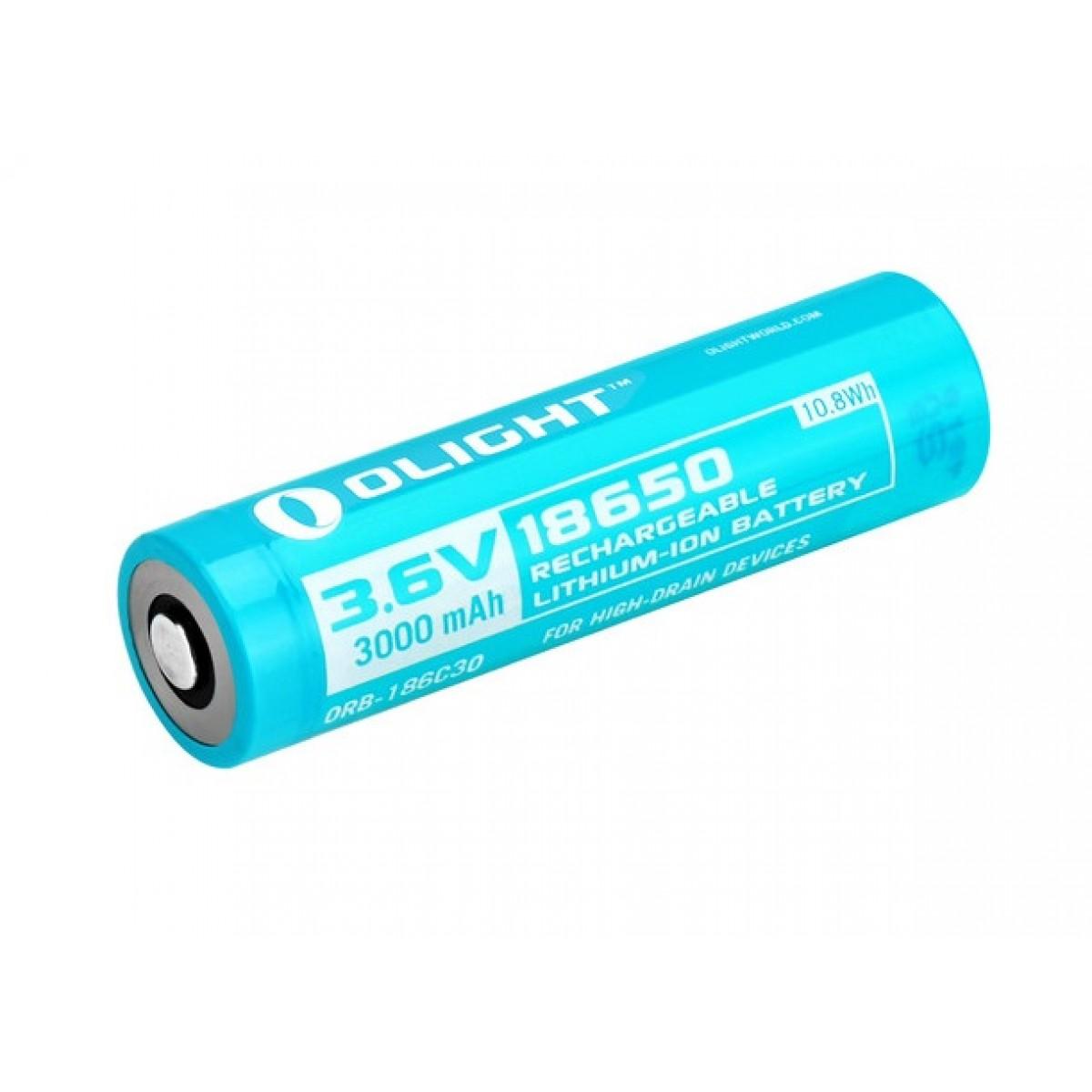 Olight Customized 18650 3000mAH Li-ion Battery for Olight H2R