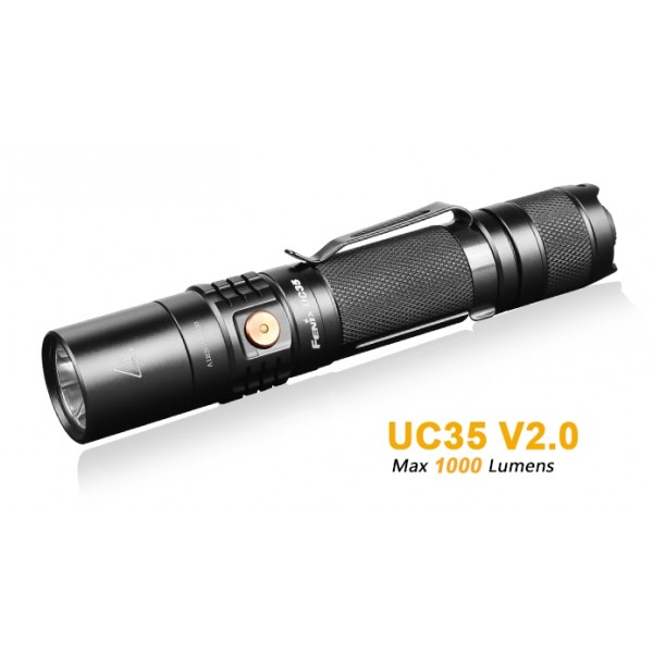 Fenix UC35 V2.0 Rechargeable CREE XP-L HI V3 LED 1000L Flashlight w Battery