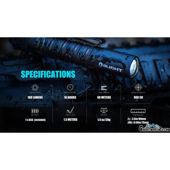 Olight I3T EOS Dual-Output Luxeon TX CW LED 180L Flashlight