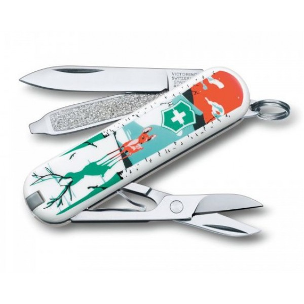 Victorinox Classic SD They'll Grow Deer Multitool Pocket Knife 0.6223.L1507
