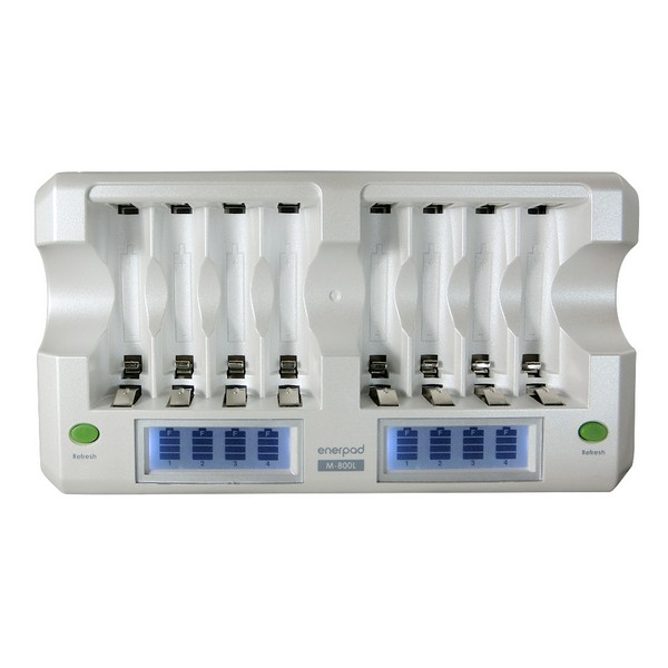 Enerpad 8 Slot NiMH NiCD AA AAA Battery Charger M-800L