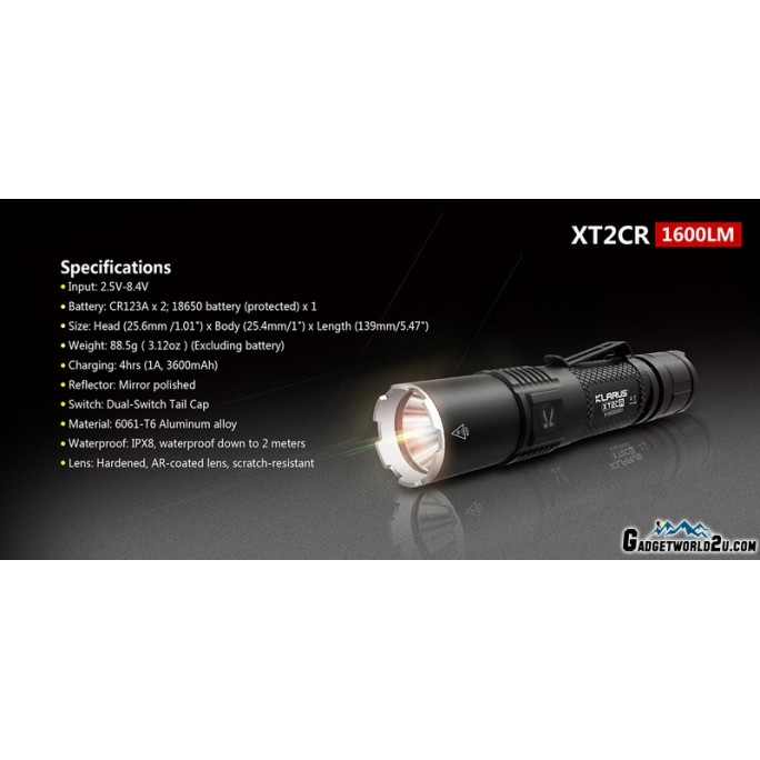 Klarus XT2CR Urban Camo CREE XHP35 HD LED Rechargeable Flashlight