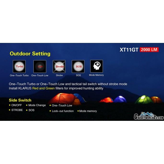 Klarus XT11GT Urban Camo CREE XHP35 HD LED 2000L Rechargeable Flashlight