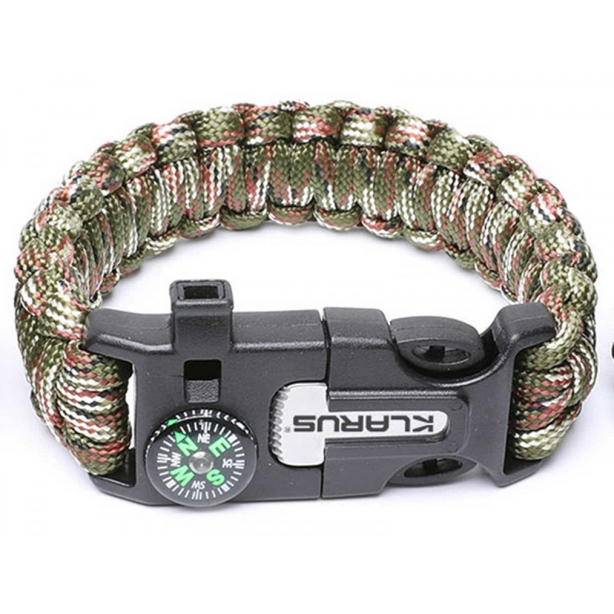 Klarus 5 in 1 Paracord Survival Bracelet  Multitool Army Green