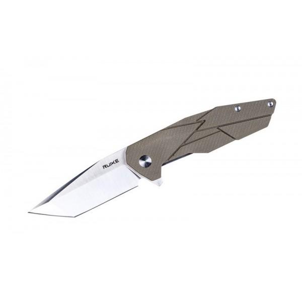 Ruike P138-W Desert Sand Liner Lock G10 Folding Knife