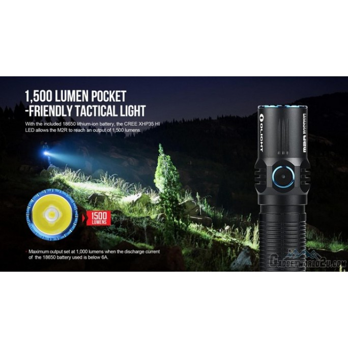 Olight M2R CU Warrior Rechargeable CREE XHP35 CW 1500L LED Flashlight