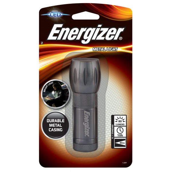 Energizer LED Metal Light 3AAA 80L Flashlight ML33AVWOB