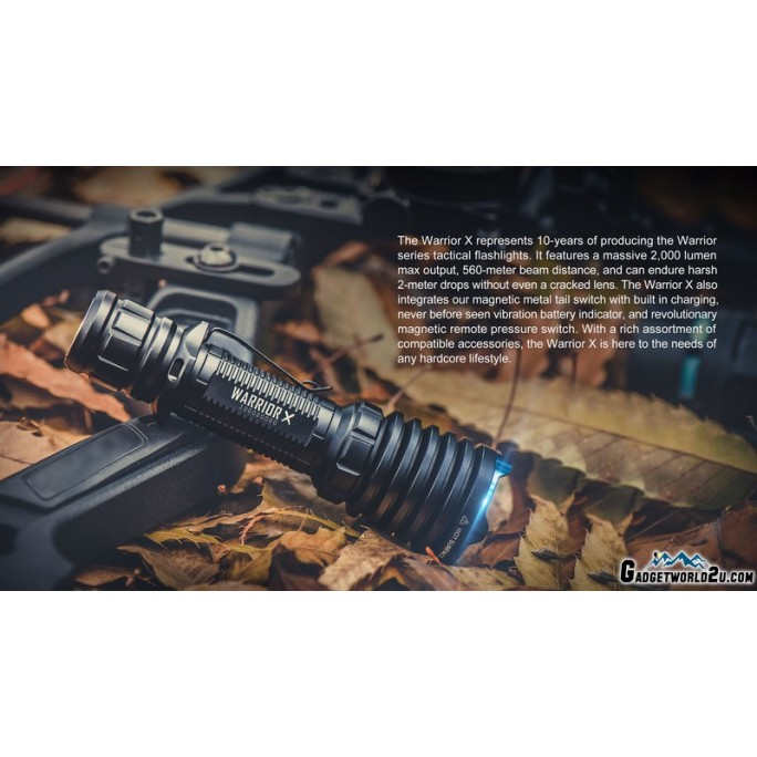 Olight Warrior X CREE XHP35 NW 2000L LED Rechargeable Flashlight