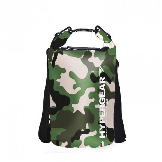 Hypergear Dry Bag Camo Water Resistant 20 Liter - Camo Green Delta