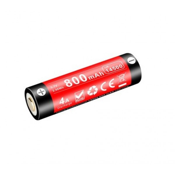 Klarus 14500 800mAh 3.7V Micro-USB Li-ion Protected Rechargeable Battery 14GT-80UR
