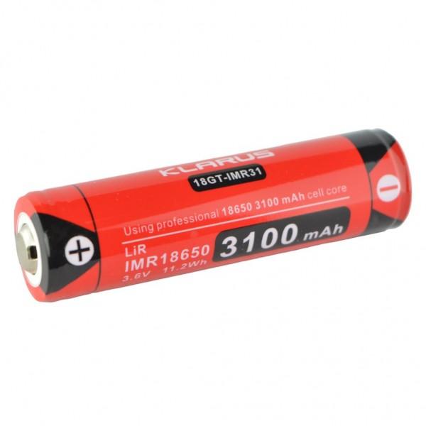 Klarus IMR 18650 3100mAh 3.6V Li-ion Rechargeable Battery 18GT-IMR31