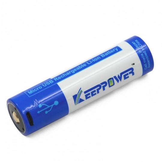 KeepPower 18650 3.7V 3500mAh Li-ion USB Rechargeable Battery