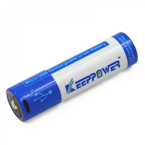KeepPower 18650 3.7V 3500mAh Li-ion USB Rechargeable Battery