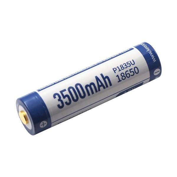 KeepPower 18650 3.6V 3500mAh Li-ion USB Rechargeable Battery P1835U