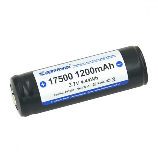 KeepPower 17500 3.7V 1200mAh Li-ion Rechargeable Battery