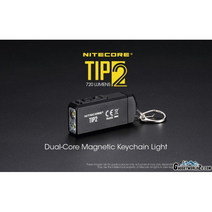 Nitecore TIP2 CREE XP-G3 S3 LED 720L Keychain Rechargeable Flashlight