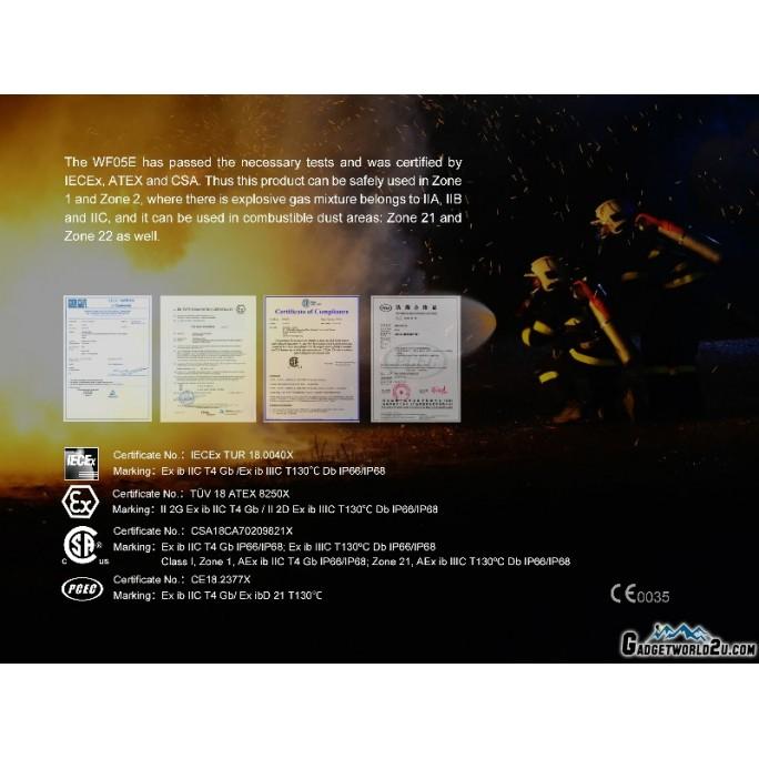 Fenix WF05E Intrinsically Safe CREE XP-G2 NW 85L Flashlight