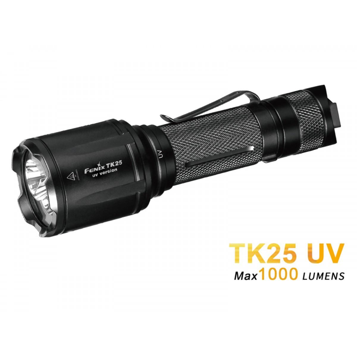 Fenix TK25 UV CREE XP-G2 1000L White and UV Flashlight
