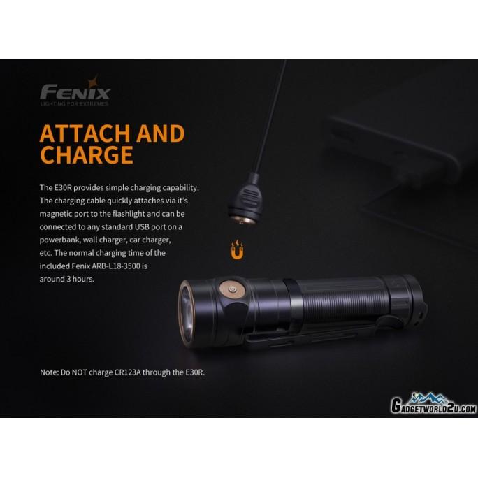Fenix E30R Luminus SST40 LED 1600L Rechargeable Flashlight